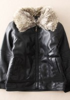 Kids Leather Jackets with Fur