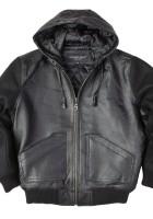 Kids Leather Jackets with Hood