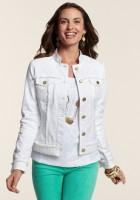 Ladies White Denim Jacket