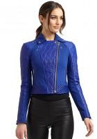 Leather Blue Jacket