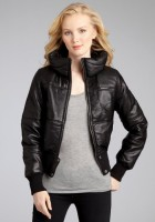 Leather Bomber Jacket Ladies