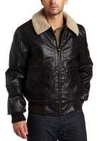 Leather Bomber Jacket Mens
