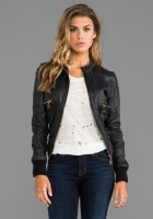Leather Bomber Jacket Outfits