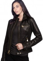 Leather Bomber Jacket Womens