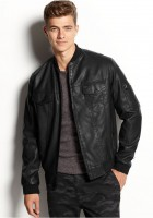 Leather Bombers Jacket