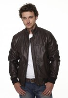Leather Jacket Bomber