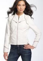 Leather White Jacket