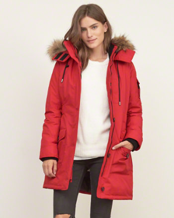 Ladies Red Parka Jacket | Jackets Review