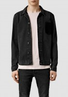 Men Black Denim Jacket
