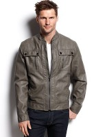Men Faux Leather Jacket