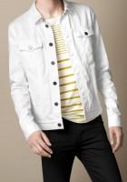 Men White Denim Jacket