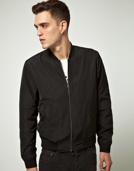 Images of Black Bomber Jacket Mens - Reikian