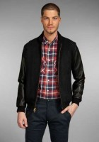 Mens Black Varsity Jacket