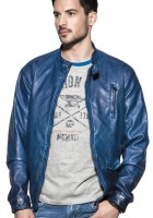 Mens Blue Leather Jackets