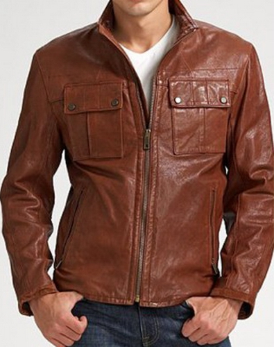 Mens brown leather riding jacket – Modern fashion jacket photo blog