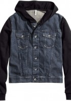 Mens Denim Jacket with Hood