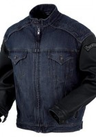Mens Denim Motorcycle Jacket