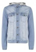 Mens Hooded Denim Jacket
