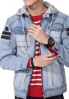 Mens Hooded Denim Jacket