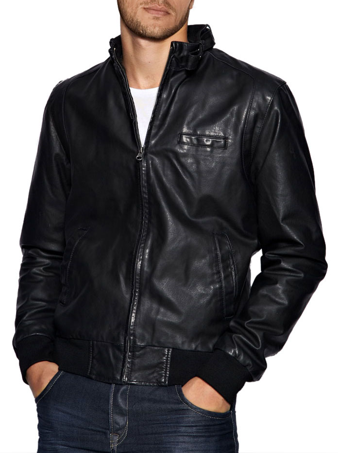 Leather bomber jacket men – Modern fashion jacket photo blog