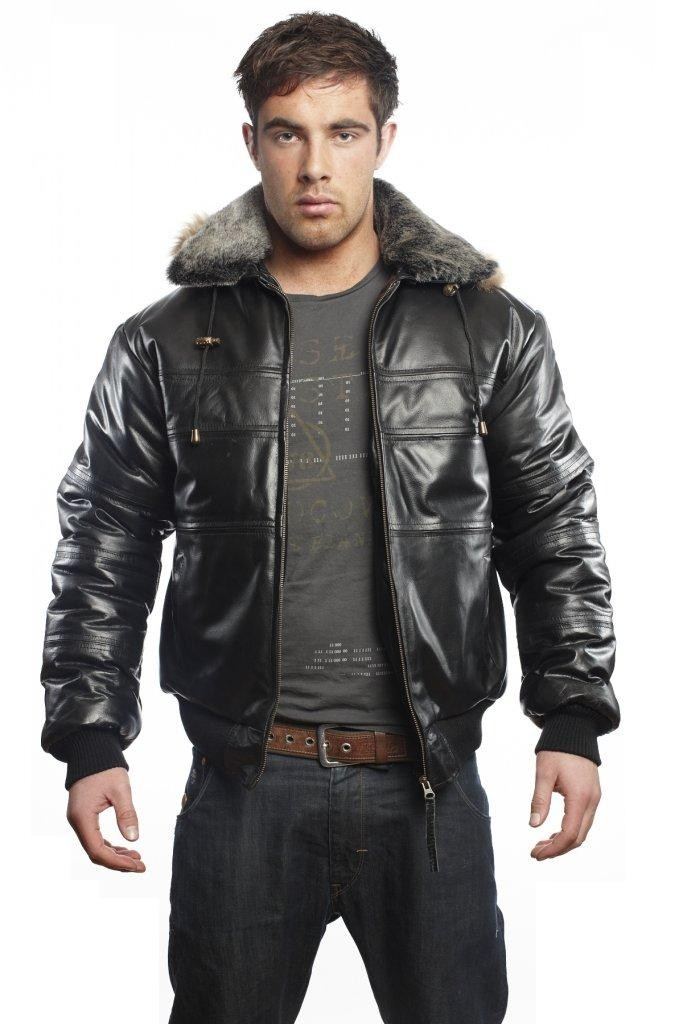 Luxurious Men's Leather Bomber Jackets. Dump your hoodies and sweatshirts in favor of a black or brown leather bomber jacket for a touch of rugged coolness to your outfit. Leather is a classic bomber jacket material. The great thing about a leather jacket is that it will last a long time with the right care.