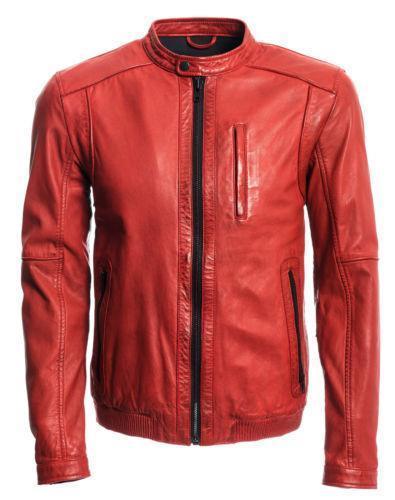 Alex Distressed Burgundy Leather Jacket