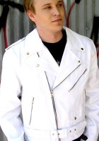 Mens White Leather Jackets