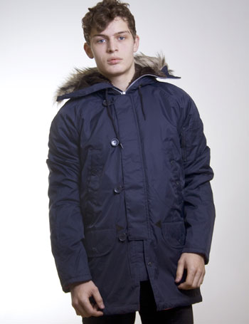 Blue Parka Jacket Men | Fit Jacket