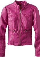 Pink Ladies Leather Jacket