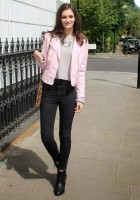Pink Leather Jacket Style