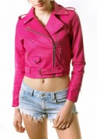 Pink Leather Jacket for Girls