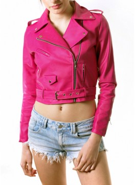 Pink Leather Jacket for Girls – Jackets