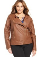 Plus Size Faux Leather Jackets