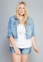 Plus Size Short Sleeve Jean Jacket