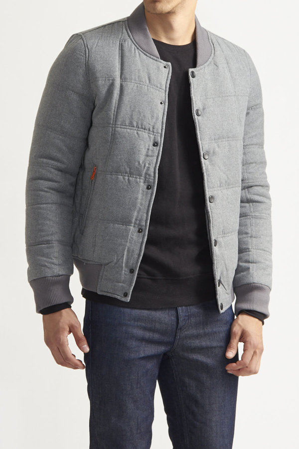 Quilted Bomber Jacket Mens Jackets