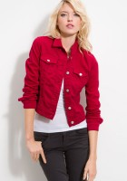 Red Denim Jacket Women