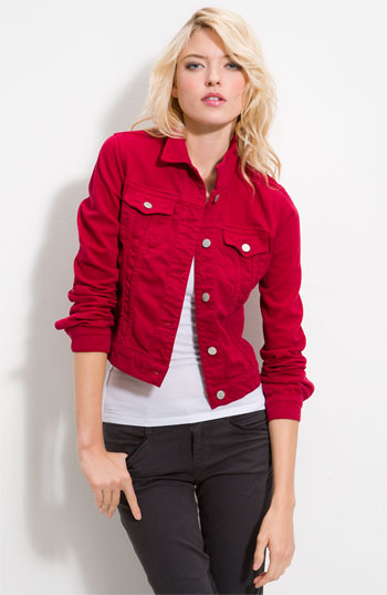 Red Jean Jacket For Women - JacketIn