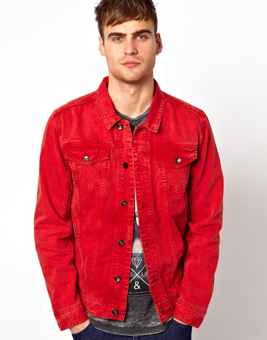 onelainsex.ml: red denim jacket. This pigment-dyed denim jacket is sure to become your new staple. Riders by Lee Indigo Women's Denim Jacket. by Riders by Lee Indigo. $ $ 29 99 Prime. FREE Shipping on eligible orders. Some sizes/colors are Prime eligible. out of 5 stars