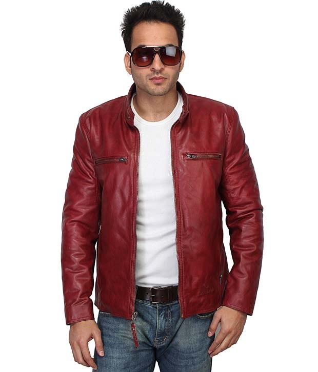 Mens Red Leather Jacket | Jackets Review