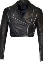Short Black Leather Jacket