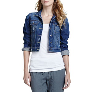 Womens Cropped Denim Jacket - JacketIn