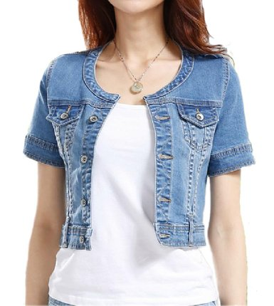 Womens White Denim Jean Jacket