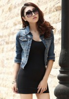 Short Sleeve Jean Jacket Outfits