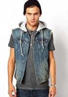 Short Sleeve Jean Jacket for Men