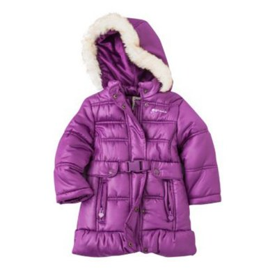 Purple Girls Winter Coat - JacketIn