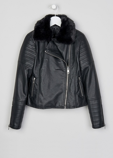 Boys Leather Bomber Jacket