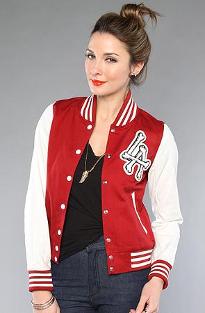 Black varsity jacket women
