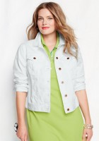 White Denim Jacket Plus Size