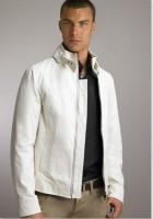 White Leather Jacket Mens