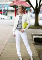 White Leather Jacket Style